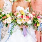 Colorful Bouquets Folie à Deux Florals Merrimon-Wynne House Romantic rainbow wedding design by Folie à Deux Events Jordan