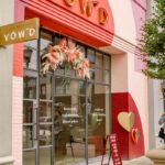 Storefront Pink and Peach Vow'd Weddings - The New Raleigh, NC Wedding Dress Shop